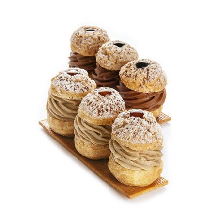 Choux pastry trio