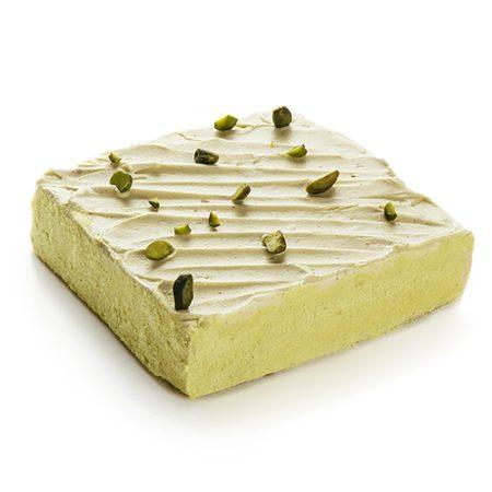Cake au carré pistache