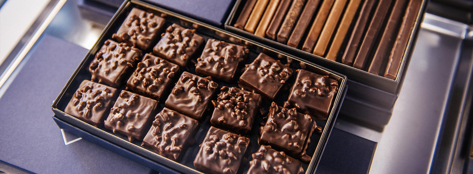 Slider section chocolats